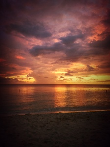Sunset from 7 Mile Beach, Grand Cayman