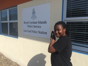 Candi at the Police Station